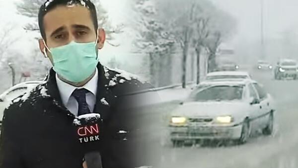 Son dakika: Meteoroloji uyarmıştı Ankarada yoğun kar yağışı başladı