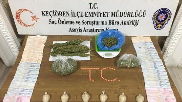 Ankarada uyuşturucu satıcılarına operasyon